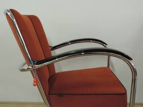 Gispen Classic 407/412/414/AA armlegger Zwart bakeliet