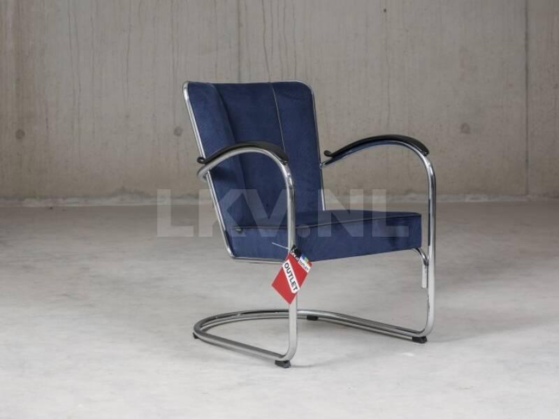 Gispen 412 fauteuil donker blauw