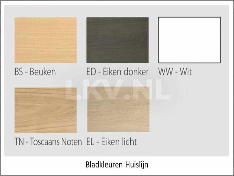 Hoekbureau Basic - overzicht bladkleuren