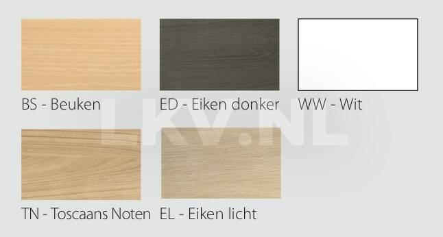Kolom tafel 75 cm - Kleurenoverzicht bladen