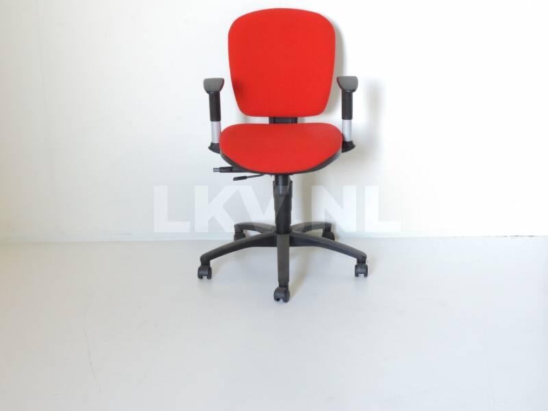 Rode voordelige bureaustoel Vito