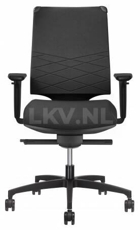 Leaf C2C bureaustoel met ruitpatroon