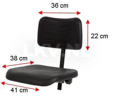 Werkstoel KM267 Afmetingen