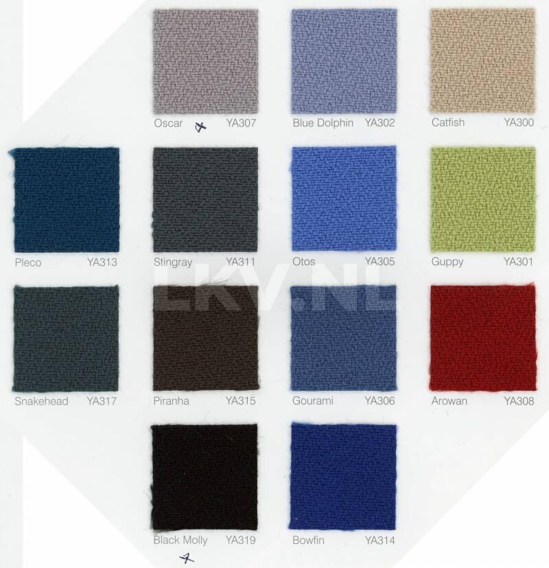Opzet scheidingswand - kleurenoverzicht