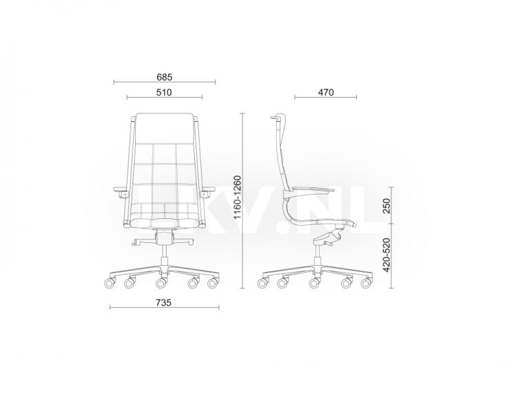Tekening Bureaustoel Sit-on-it