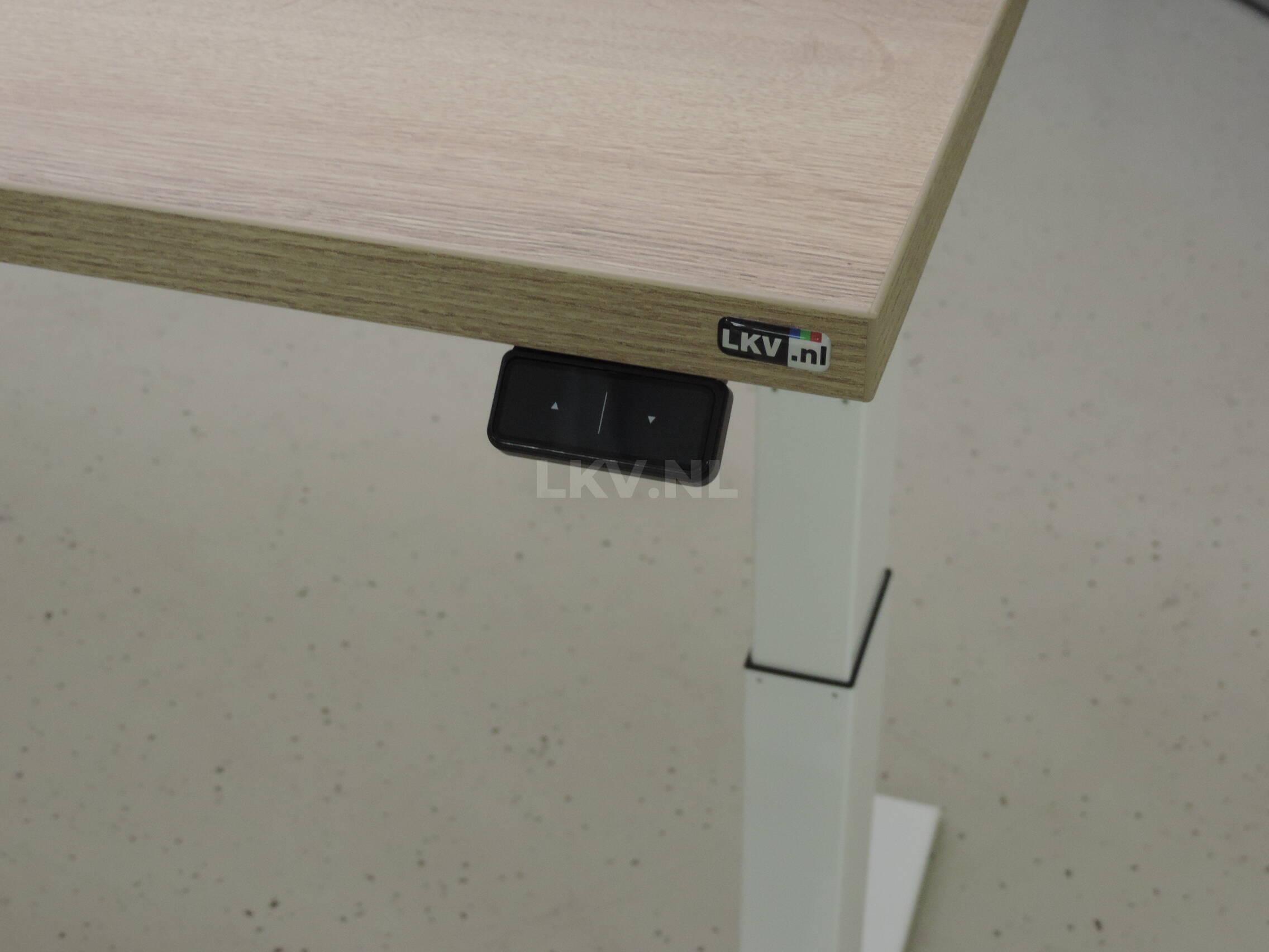 Zit-sta bureau GT-SF met wit frame en halifax blad