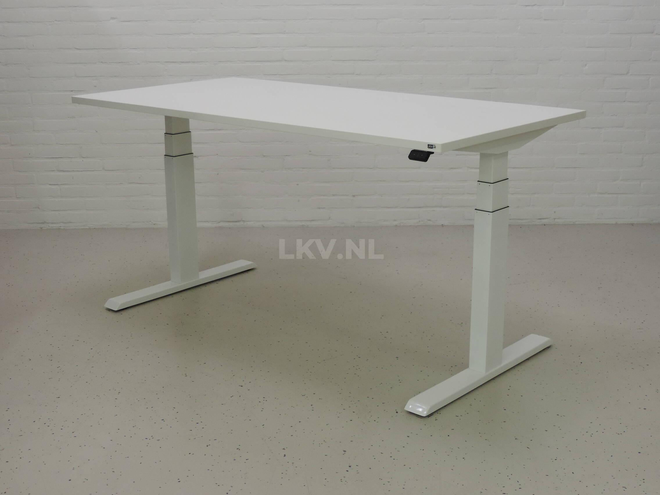 Zit-sta bureau GT-SF met wit frame en wit blad